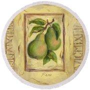 Italian Fruit Pears Round Beach Towel