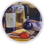 Italian Kitchen Round Beach Towel by Donna Tuten