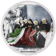 Italian Nuns Round Beach Towel