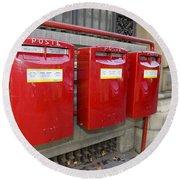 Italian Post Office Boxes Round Beach Towel