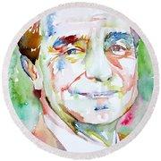 Italo Calvino Round Beach Towel