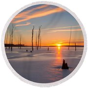 Its A New Day Round Beach Towel