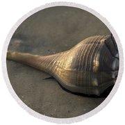 It's Alive - Lightning Whelk Round Beach Towel