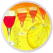 Its Five O'clock Somewhere Round Beach Towel