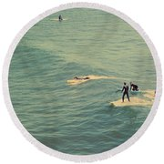 It's The Ride Round Beach Towel by Laurie Search