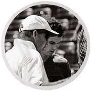 Ivan Lendl And Andy Murray  Round Beach Towel by Nishanth Gopinathan
