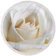 Ivory Rose Flower Round Beach Towel