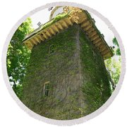 Ivy Along The Watchtower Round Beach Towel