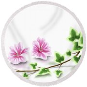 Ivy And Mallow Round Beach Towel