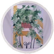 Ivy Round Beach Towel