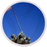 Iwo Jima Memorial At Arlington National Round Beach Towel