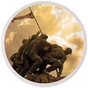 Iwo Jima Memorialized Round Beach Towel