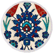 Iznik 03 Round Beach Towel