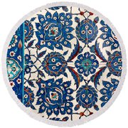 Iznik 12 Round Beach Towel