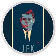 J F K In Hope Round Beach Towel