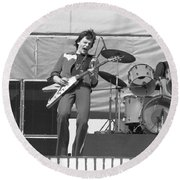 J. Geils At Day On The Green 1976 Round Beach Towel