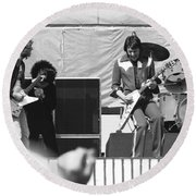 Day On The Green 6-6-76 Round Beach Towel