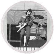 J. Geils In Oakland 1976 Round Beach Towel