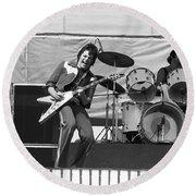 J. Geils On Stage In Oakland 1976 Round Beach Towel