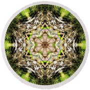 Jack In The Pulpit Mandala Round Beach Towel