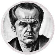 Jack Nicholson Round Beach Towel