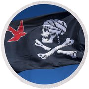 Jack Sparrow Pirate Skull Flag Round Beach Towel