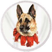 Jackie Round Beach Towel