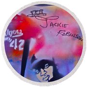 Jackie Robinson Red Round Beach Towel