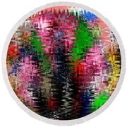 Jacks And Marbles Abstract Round Beach Towel