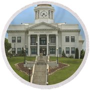 Jackson County Courthouse Round Beach Towel