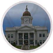 Jackson County Courthouse North Carolina Round Beach Towel