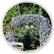 Jackson Hole Wyoming Round Beach Towel