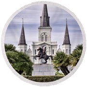 Jackson Square Round Beach Towel