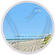 Jacksonville Fl Beach Round Beach Towel