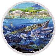 Jacksonville Kingfish Off0088 Round Beach Towel