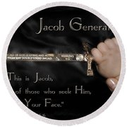 Jacob Generation Round Beach Towel