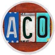 Jacob License Plate Name Sign Fun Kid Room Decor. Round Beach Towel