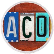 Jacob License Plate Name Sign Fun Kid Room Decor. Round Beach Towel