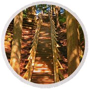 Jacobs Ladder Round Beach Towel