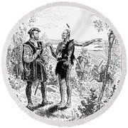 Jacques Cartier (1491-1577) Round Beach Towel