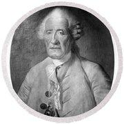 Jacques De Vaucanson (1709-1782) Round Beach Towel