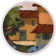 Jacques Farm In Provence Round Beach Towel