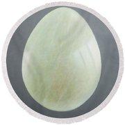 Jade Egg, 2012 Acrylic On Canvas Round Beach Towel