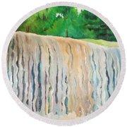 Jagala Waterfalls  Round Beach Towel