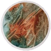 Jagged Edges Round Beach Towel