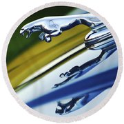 Jaguar Car Hood Ornament Round Beach Towel
