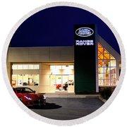 Jaguar Land Rover Harrisburg At Dark Round Beach Towel