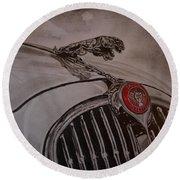 Jaguar Mk II Bonnet Round Beach Towel