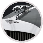 Jaguar Mk Ix Hood Round Beach Towel