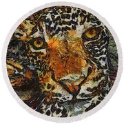 Jagvangogh Round Beach Towel
